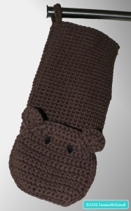 hanging crochet bath mitt bear buddy